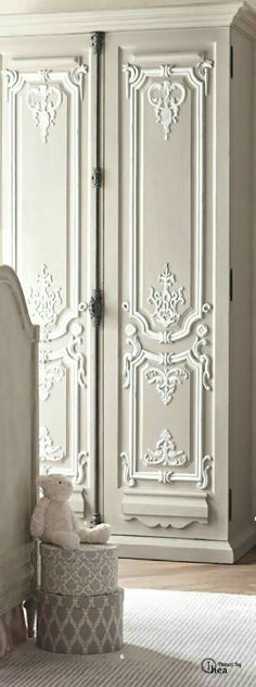 Love the deatail on the doors/French Country Cabinet