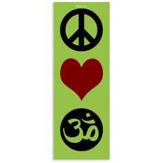 Peace Love Yoga Gaiam Yoga Mat