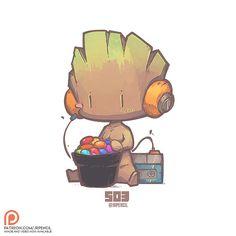 503 - Baby Groot, Jr Pencil on ArtStation at https://www.artstation.com/artwork/q3wXL