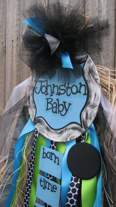 Hospital/Announcement Baby Door Hanger by SweetMudd on Etsy