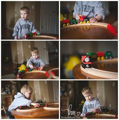 Life with a boy - trains - in-home lifestyle photography