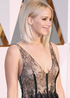 Well, one of the most trendy haircuts this year is the pixie haircut. Jennifer Lawrence Blonde, Jenifer Aniston, Jennifer Lawrence Makeup, Jennifer Lawrence Hairstyles, Long Platinum Blonde, Beige Blonde, Jenifer Lawrens, Haircut And Color, Long Hair Cuts