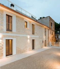 Modern stone residence located in Pennapiedimonte, Italy, redesigned by Materiaprima.