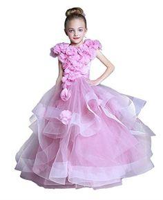 CoCoGirls Princess Ruffles Flower Girl Dress Birthday Par…