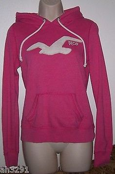 Hollister Hoodie Pink Sz M HOC Women Junior Girls Pullover