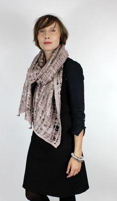 wool silk felted scarf