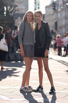 Comfy and stylish    Being stylish, you don't always have to wear skyhigh shoes. Sometimes, wearing sneakers does the trick! ;)