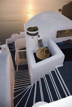 Staircase in Santorini, Greece