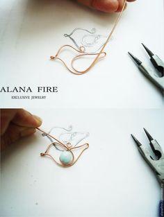 Wire bird charm master class ~ Wire Jewelry Tutorials