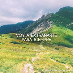 Este mensaje fue compartido vía Andrés Cepeda Letting Go, Decir No, Let It Be, Mountains, Words, Travel, Instagram, Cl, Diana