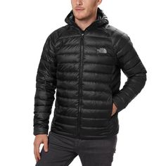 The North Face TNF Trevail Winter 800 Down Hoodie Jacket Men s Black 2XL   250 1670e7cdb9