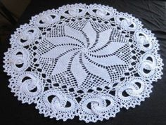 NEW, HANDMADE WHITE WEDDING RING CROCHET DOILY - 15.5 INCH