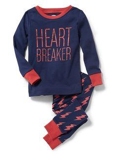 """""""Heart Breaker"""" Sleep Set for Toddler & Baby"""
