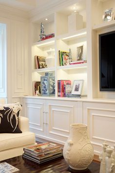 Built-In Living Room Cabinets