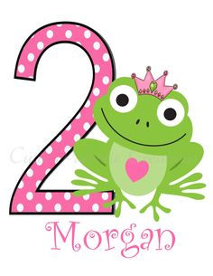 Princess Frog Birthday Number T Shirt or by CutiesTieDyeBoutique, $18.00