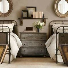 I Like The Bookshelf Over The Chest. More · French Industrial DecorVintage Industrial  BedroomIndustrial ...