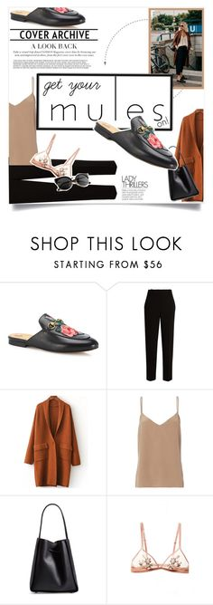 """Mules On! French touch..."" by solespejismo on Polyvore featuring Gucci, The Row, L'Agence, 3.1 Phillip Lim and vintage"