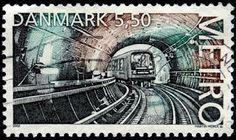Sobre Filatelia y Ferrocarriles: Efemérides: Metro Copenhague (Dinamarca, 2002)