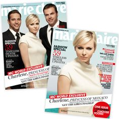 Princess Charlene is on the August cover of Marie Claire South Africa to promote her foundation. harlene was an Olympic swimmer