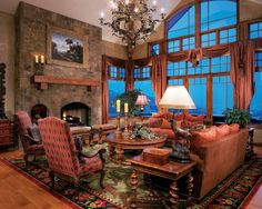Traditional Living Photos Mountain Homes Design, Pictures, Remodel, Decor and Ideas - page 2