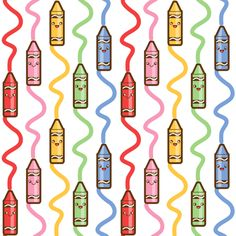 Drawing crayons custom fabric by woodmouse&bobbit for sale on Spoonflower Cool Pattern Designs, Pattern Art, Watch Wallpaper, Iphone Wallpaper, Background Pictures, Background Patterns, Teacher Wallpaper, Toddler Themes, Spoonflower Fabric
