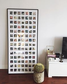 My personal project is finally finished. Exactly 98 polaroids that I took over the past year with my love, family and friends and our favorite trips displayed in a customized picture frame in our living room. 2015 brought us so much and I couldn't be more grateful. Getting excited for 2016..