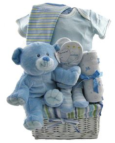 Perfect baby boy gift basket
