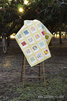 """Polaroid Quilt tutorial for charm squares  Block = 6.5"""" x 8"""" 4 across by 6 down = 36"""" x 62"""""""