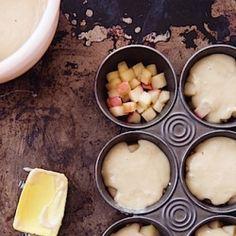 {recipe} Upside-Down Apple Tea Cakes in the making by Lara Ferroni.