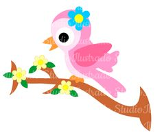 Bird Flower, Passarinha Flor, Cute, Fofa, Regular Cut, Silhouette
