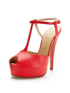 Peep-Toe T-Strap Sandal by Giuseppe Zanotti at Gilt