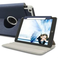 360 Degree Rotating Leather Case For iPad Mini ( Blue )