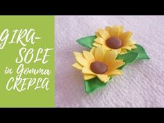 Tutorial: Girasole in Gomma Crepla (ENG SUBS - DIY easy fommy sunflower) - YouTube Easy Diy, Projects To Try, Hobby, Crafts, Youtube, Costumes, Flowers, Classroom, Bricolage