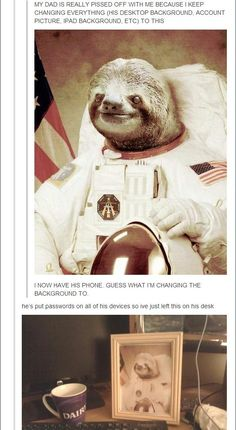 Slothstronaut: | 32 Of The Greatest Things That Have Ever Happened On Tumblr