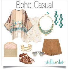 Boho Casualfeaturing Marni, Zara, Valentino, Stella & Dot, stelladot, summerfashion, stelladotstyle and bohocasual