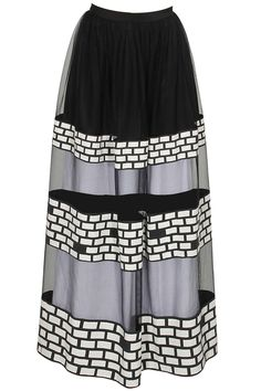 Black and white printed panel skirt available only at Pernia's Pop-Up Shop.