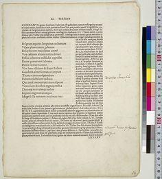 Horatius Flaccus, Quintus. Opera. Florence: Antonio di Bartolommeo Miscomini, 5 Aug. 1482. via http://www.ndl.go.jp/incunabula/e/collection/col_04.html#c35
