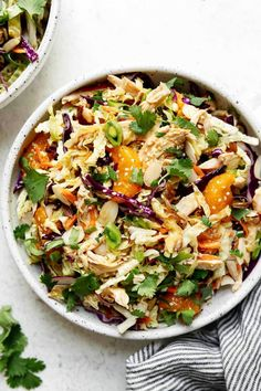 Chinese-Inspired Chicken Salad Summertime Salads, Summer Salads, Chinese Chicken, Chinese Food, Ginger Sauce, Primal Kitchen, Real Food Recipes, Healthy Recipes, Healthy Meals