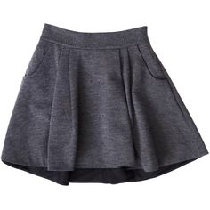 Pre-owned DVF Grey Wool Blend Circle Skirt ($75) ❤ liked on Polyvore featuring skirts, bottoms, shorts/skirts, grey skirt, gray skirt, diane von furstenberg skirts, circle skater skirt and wool blend skirt