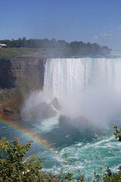 Horseshoe Falls on the Canadian side of Niagara Falls