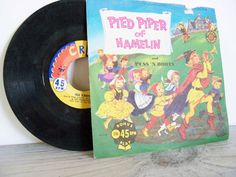 Pied Piper Of Hamelin Cricket Records 45 Puss N Boots Vintage Childrens Record No C98 Overtones Marta Maxine Adams Todd Fuller 1950 Pickwick