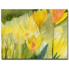 Trademark Art 'Path of Yellow Flowers' by Sheila Golden Painting Print on Canvas Size: Flower Painting Canvas, Flower Canvas, Painting Prints, Canvas Wall Art, Canvas Prints, Flower Wall, Flower Paintings, Yellow Wall Art, School Of Visual Arts