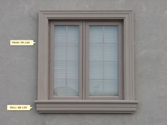Exterior Window Molding, Door Gate Design, Windows, Windows Exterior, Exterior Design, Window Design, Moldings And Trim, House Paint Exterior, Window Cornices