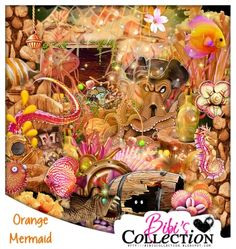 "Kit ""ORANGE MERMAID""  by Bibi's Collection matching kit to new tube by Danny Lee by the same name  http://scrapsncompany.com/index.php?main_page=product_info&cPath=112_114_168&products_id=13105"