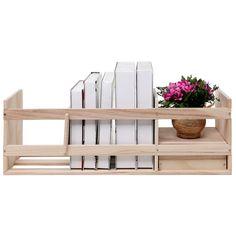 Wooden Desktop Supply Organizer & Book Storage Shelf w/ Drawer   MyGift