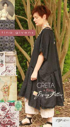 Greta plus pants Sewing Pattern by Tina Givens