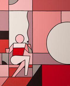 A Moment of One's Own: Block-Colour Paintings by Stephen Baker… Flat Design, What Is Contemporary Art, Graffiti, Street Art, Minimalist Painting, Affinity Designer, Australian Art, Community Art, Illustration Art