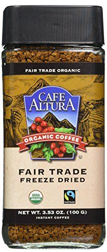 Cafe Altura Organic Fair Trade Instant Coffee Pack of 1 -- More info could be found at the image url. (This is an affiliate link and I receive a commission for the sales) Coffee Label, Coffee Pack, Instant Coffee, Freeze Drying, Drinking Tea, Healthy Drinks, Fair Trade, Gourmet Recipes, Frozen