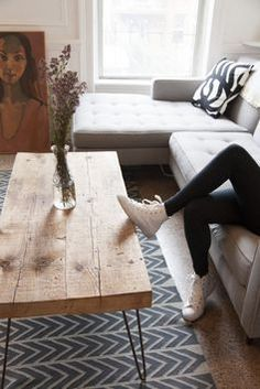table with pin hair legs and dsw chairs - Google Search