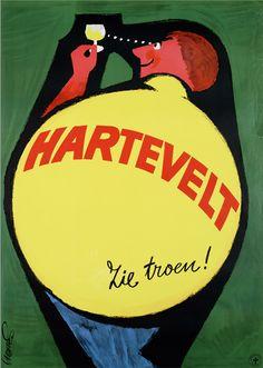 Poster by Mettes, ca.1967, Hartevelt Zie Troen!(alcool). (Dutch)